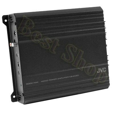 JVC KS-AX201 250W RMS Monoblock Class AB AX2 Car Amplifier Subwoofer Bass Amp (Jvc Car Amp)
