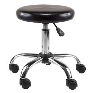 NEW Winsome Wood Clark Round Cushion Swivel Stool with Adjustable Height Condition: New