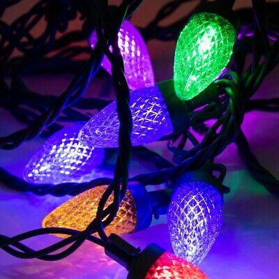 Christmas Bulb Lights (ALEKO Christmas Rainproof Big Bulb C7 String Lights 25 LED 25 feet)