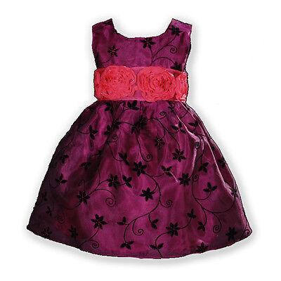 Blumen-mädchen-kleider In Pink (NEU Blumenmädchen Brautjungfer Festzug Kleid in pink, pink 12m bis 5 Jahre)