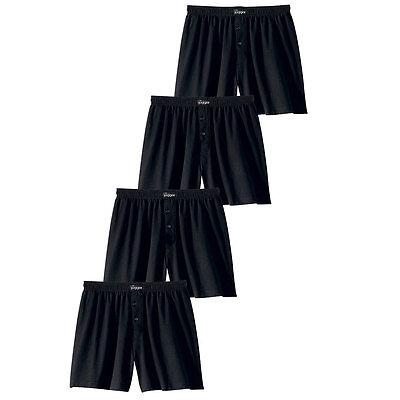 Le Jogger 4er Pack Herren Boxershorts,klassisch weite Boxer, Unterhosen, schwarz - Klassische Baumwolle Boxer