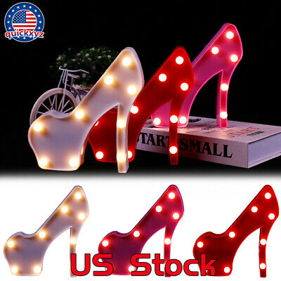 Home Decor Night Light 3D Fashion LED High Heels Shoes Shape Party Lamp Table US