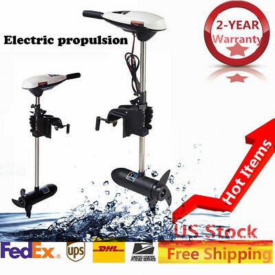 ET65L Electric Transom Mount Trolling Motor Outboard Marine Boat Engine US Stock