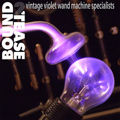 VIOLET WAND Ray LIGHT BULB ADAPTOR fetish Kink High Frequency IFAS