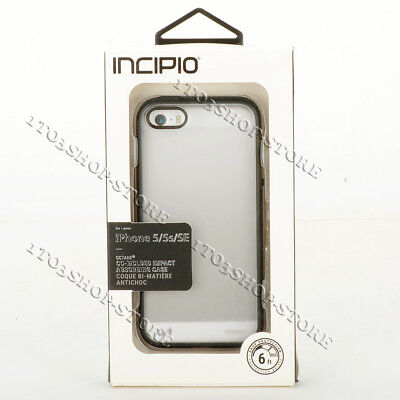 Incipio Octane iPhone 5 5s iPhone SE Snap Hard Cover Case Frost Clear Black