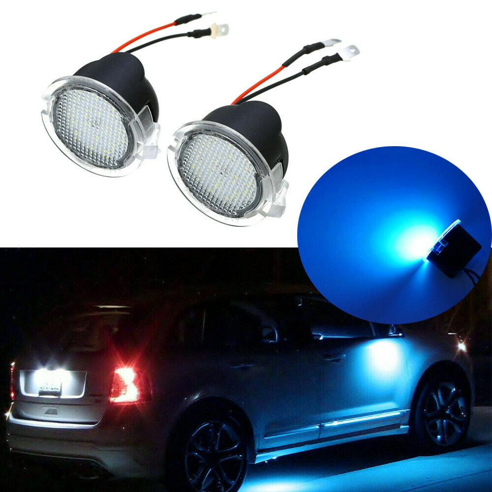 White Full LED Side Mirror Puddle Lights For Ford F150 Edge Flex Fusion etc