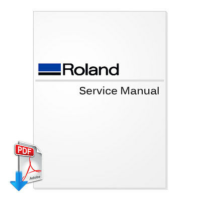ROLAND SolJet Pro 4 XR-640 Service Manual PDF File for Wide Format Printer