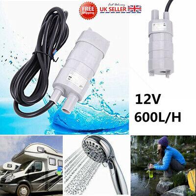 600L/H 12V Electric Water Pump High Flow Submersible Caravan Motorhome Camper UK
