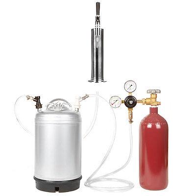 Stout Beer Brew Keg Kit Nitrogen Tank 3 Gal. Keg Stout Tap Tower Ships Free
