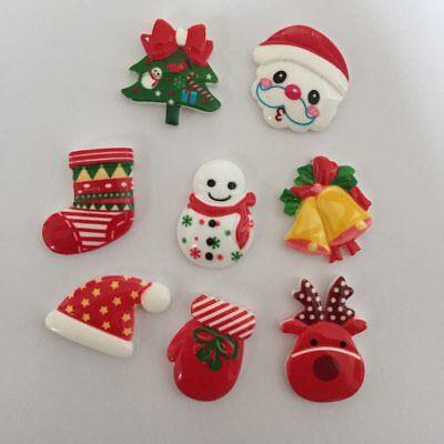 Fun Christmas Xmas Decorations for Kids , Craft, Card-making & Decoration 10 Pcs ()