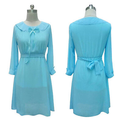 Cosplay For Children (Adult Women's Blue Dress Cosplay Home for Peculiar Children Emma Costume)