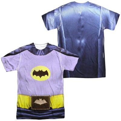 Authentic Batman Classic TV Show Adam West Costume Uniform Front Back - Authentic Batman Costumes