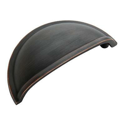 Oil Rubbed Bronze Cabinet Drawer Cup Pull -