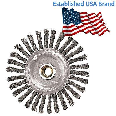 Pearl Abrasive Power Wire Brush Clwbk458b Knot Wheel 4 X .020 X 58-11