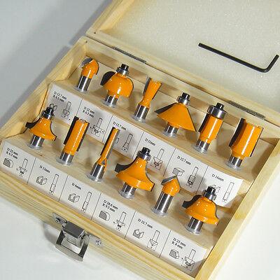 HM Fräsersatz 12 tgl - 8 mm Nutfräser Fräser für Oberfräse Holzfräser Oberfräser