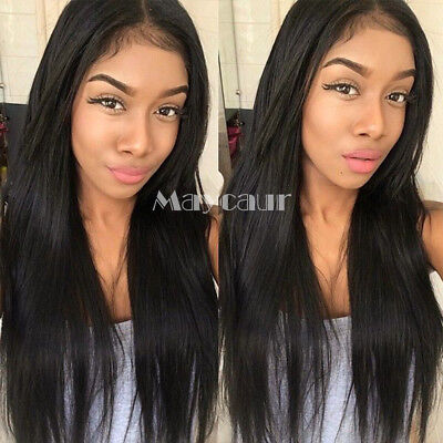 FastShipping Straight Wig Heat Resistant Synthetic Lace Front Wig With Baby Hair