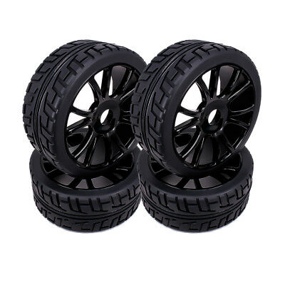 4pcs 17mm Hub Wheel Rim Tires Tyre For RC 1/8 Off-Road RC Car Buggy HSP 180043