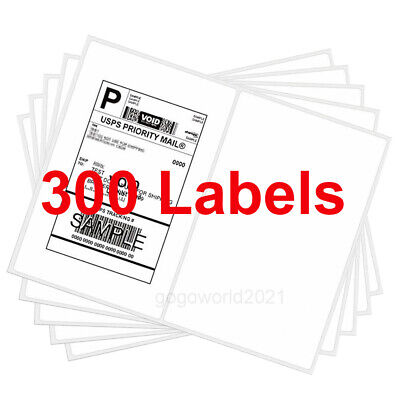 300 8.5x5.5 Rounded Corner Shipping Labels Self Adhesive 2 Per Sheet Usps Fedex