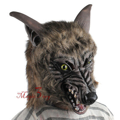 Devil Mask Halloween Horror Wolfman Scary Werewolf Kid Fancy Dress Costume Party](Halloween Devil Children)