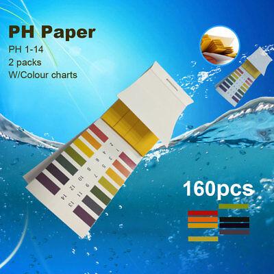 160 Litmus Paper Test Strips Alkaline Acid Ph Indicator Testing Kit Soil Saliva