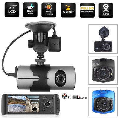 Dual Lens 2.7'' Car DVR Camera GPS Logger G-sensor Dash Cam Video Recorder LOT