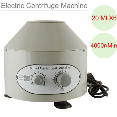 Usps 110v Electric Centrifuge Industry Machine Lab Medical Practice 20 Ml X6