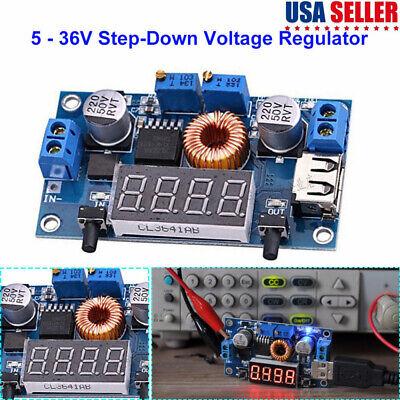 5a Dc Buck Voltage Step Down Power Converter With Voltmeter Digital Display