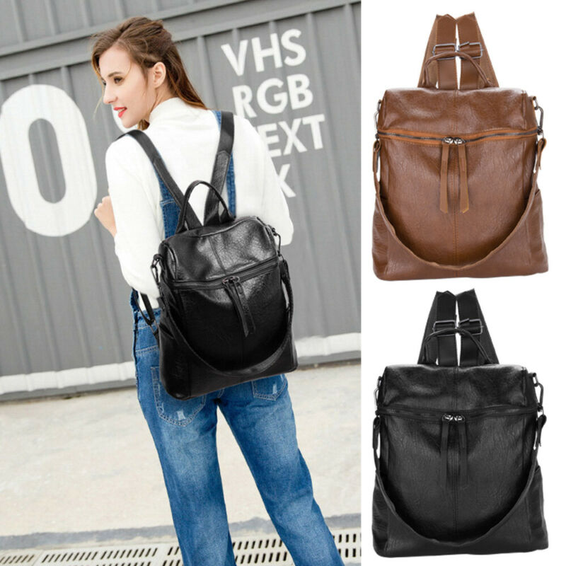 Damen Rucksack Anti Diebstahl Wasserabweisend Handtasche Schultertasche DE