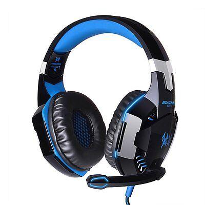 Gaming Headset 3.5mm Stereo Over-ear Headset Headphone Earphones Headband Mic