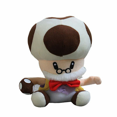 Super Mario Old Papa Toadsworth Plush Doll Toad Mushroom Stuffed Toy Gift - 9 In](Toad Super Mario)