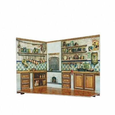 Kitchen and Home Decor Dollhouse Furniture Dolls Cardboard Model Kit (291-4)