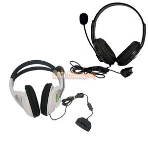 New-Black-White-Big-Headset-with-Microphone-MIC-For-Xbox-360-LIVE