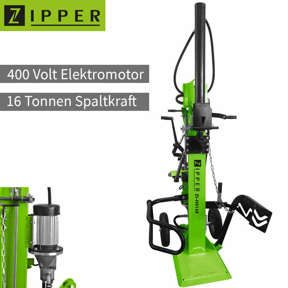 Zipper ZI-HS16E Holzspalter 400V Elektro Motor Vertikal Brenn Holz Spalter 110cm