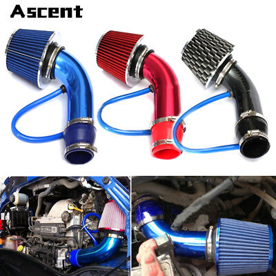 Universal Car Cold Air Intake Filter Alumimum Induction Pipe Hose System Parts