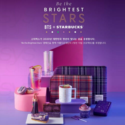 BTS + STARBUCKS Be the BRIGHTEST STARS Official MD + Tracking Number