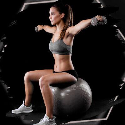 Exercise/Yoga Ball Extra Thick Yoga Ball Chair, Anti-Burst - Grey 55cm