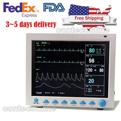 Contec Portable Medical Patient Monitor Icu Ccu Vital Sign Cardiac Machine