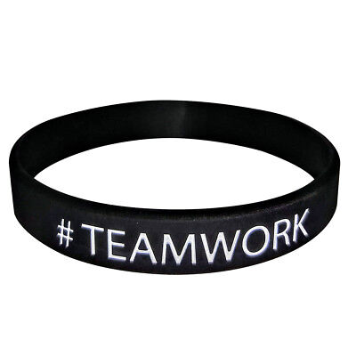 #TEAMWORK Inspirational Rubber Band Bracelets Silicone Wristband! FREE SHIPPING