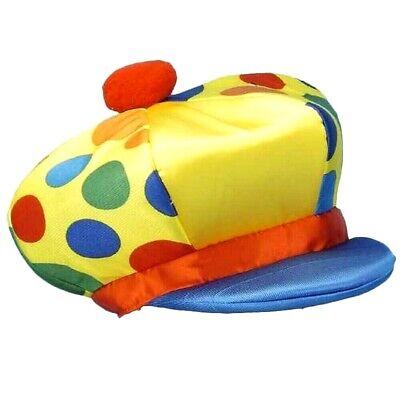 Funny YELLOW JUMBO FOAM CLOWN DERBY HAT Newsboy Costume Cap Circus Polka Dot  (Clown Hats)