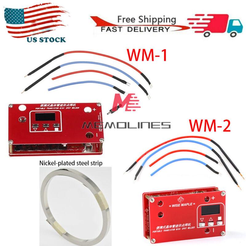 DC 12V Portable Transistor Spot Welder WM-1/WM-2 + Nickel Plated Steel Strip