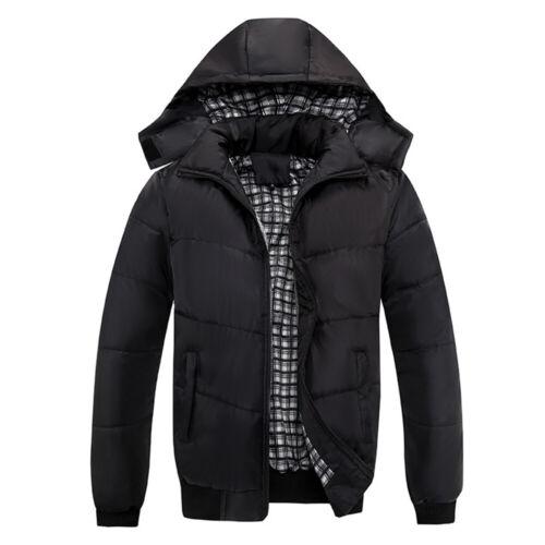 Winter Men Ultralight Warm Hooded Padded Coat Zipper Thick P