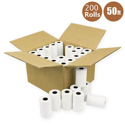 200 Rolls 2 14 X 50 Thermal Receipt Paper Credit Card Cash Register Pos Case