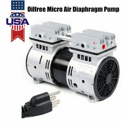 Oilless Diaphragm Vacuum Pump Industrial Oil Free Piston Vacuum Pump 550w 110v