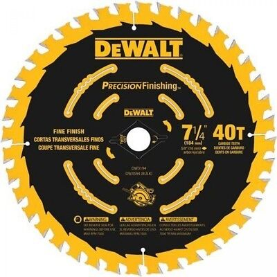 Dewalt Dw3194 7-14 X 40 Tooth Precision Finishing Saw Blade