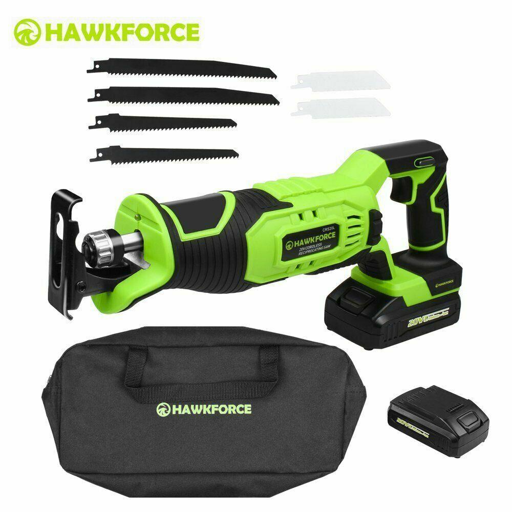20v cordless reciprocating saw cutting tool kit
