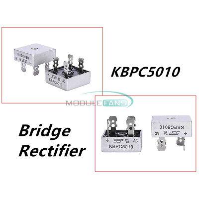 2pcs 250a 1000v Metal Case Single Phases Diode Kbpc5010 Bridge Rectifier Module