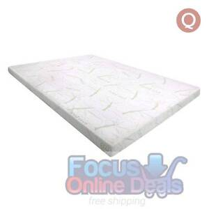 Cool Gel Memory Foam Mattress Topper / BAMBOO Fabric Cover Queen Melbourne CBD Melbourne City Preview