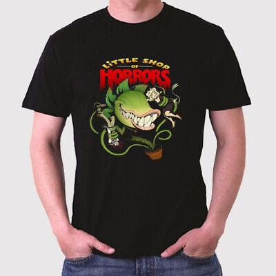 Men Of Horror (Little Shop Of Horrors Logo Horror Comedy Men's Black T-Shirt Size S to)