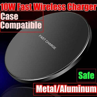 For Samsung Galaxy S20 S10 S9 S8 Plus Note 9 8 10 Qi Metal Fast Wireless Charger