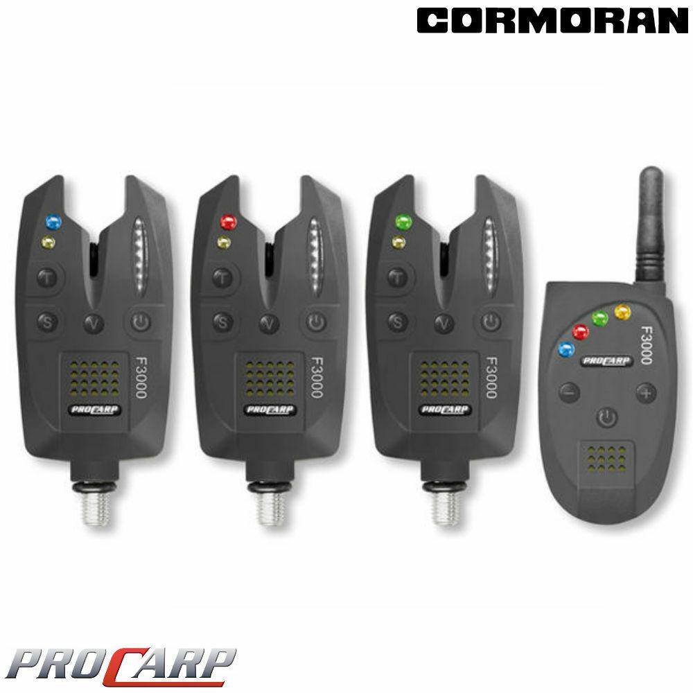 Cormoran Pro Carp F-3000 Funkbissanzeiger Set 3+1 Elektronischer Bissanzeiger